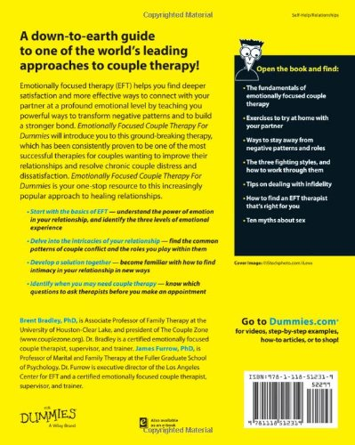 Emotionally Focused Couple Therapy For Dummies Brent Bradley