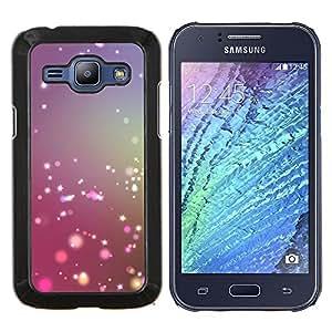 Stuss Case / Funda Carcasa protectora - Brillante Púrpura Rosa Nieve - Samsung Galaxy J1 J100