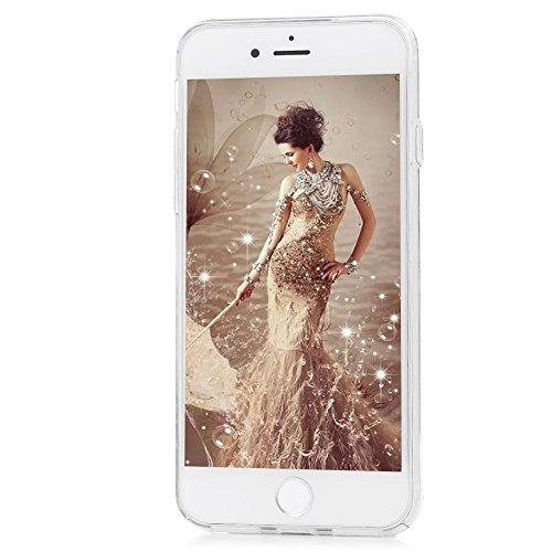 iPhone 7 / iPhone 8 Cover Slim Rigida Plastica Trasparente Tutti i Angoli Coperti - MAXFE.CO, Custodia Ultra Sottile Case Protettiva per iPhone 7 / iPhone 8 - Fiore