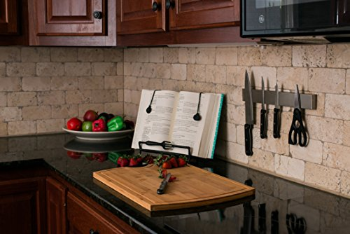 Professional Grade 14'' Stainless Steel Magnetic Knife Holder, Multipurpose Functionality, Easy To Install, Mounts on Refrigerator. by Kitchen Selections (Image #3)
