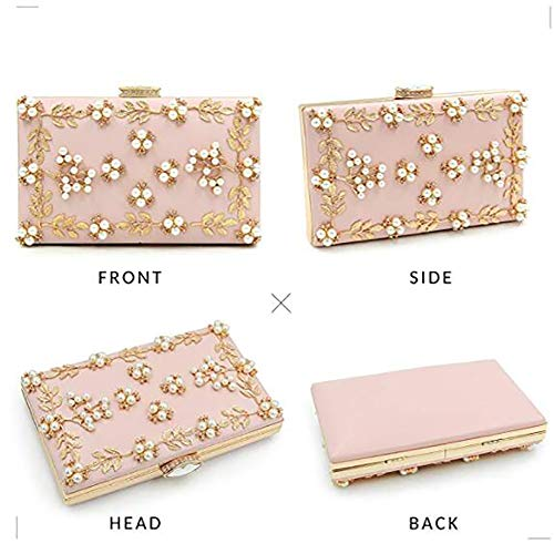 Bagood Clutch Pink Pearls Evening Bag Clutches Women Bags Purse rXqwgr