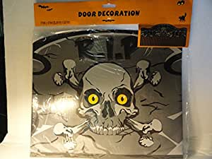 RIP Dead End Skull and Crossbones Door Decoration