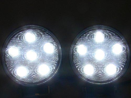 "TMS® 2 X 4"" 18w 1500lm Round LED Work Driving Fog Spot Light Bar Off-road 4x4 ATV UTV"