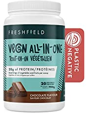 Freshfield Vegan All In One Nutritional Shake - Plant Based Protein, 6 servings of Fruits and Vegetables per scoop, 20g of protein, Adaptogenic Mushrooms, Probiotics, Soy Free, Dairy Free, Non-Gmo | 20 Servings