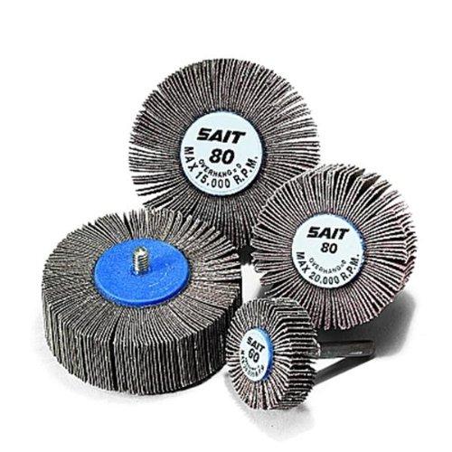 United Abrasives SAIT 71031 2A 1-1/2x1 Premium Aluminum Oxide Flap Wheels 80 Grit, 10 pack by United Abrasives SAIT