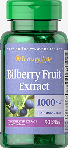 Cheap Puritan's Pride Bilberry 4:1 Extract 1000 mg-90 Softgels