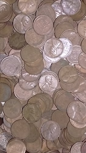 1000 Mixed Date Lincoln Cents, Wheat Ears Reverse (1909-1958)