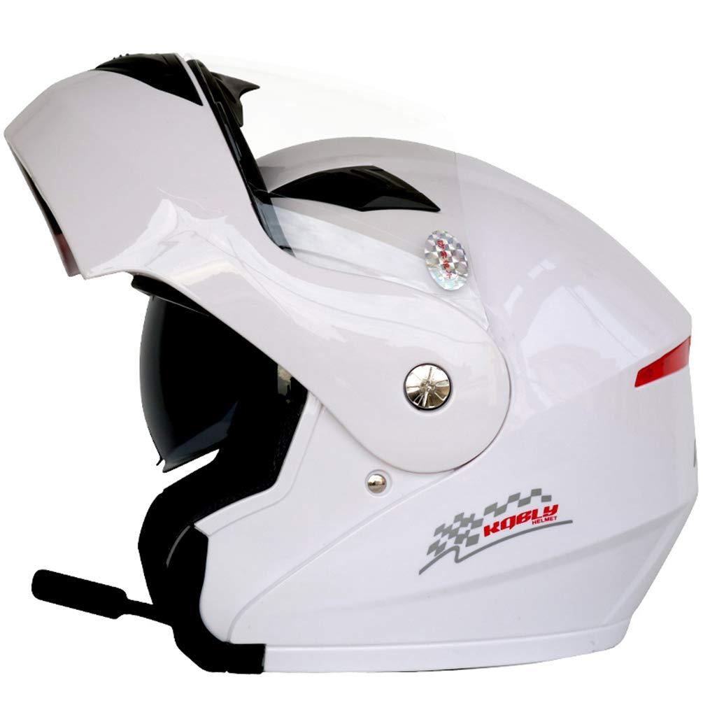 Adultos Bluetooth Moto Casco de la Motocicleta Antifogging Dual Lens Flip Up Cascos Off-Road Motocross Caps Protectoras Negro Flor XL