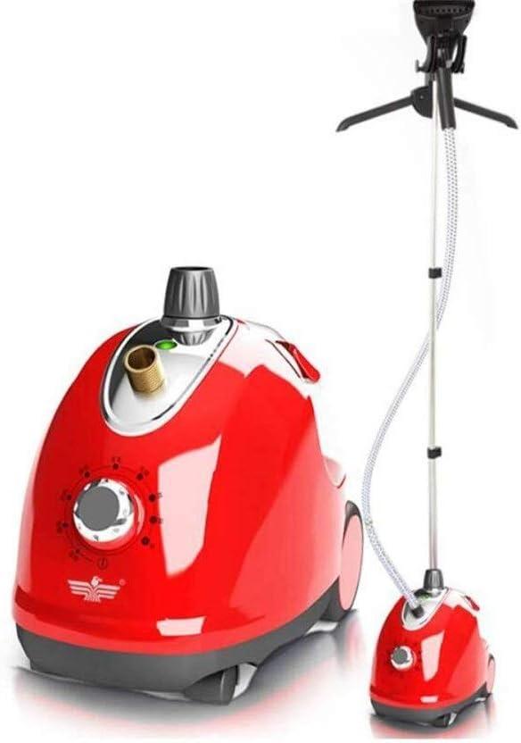 BJYX Potente portátil Tela Vapor Vertical Planchas de Vapor Mini portátil vaporizador 1500W con Rico en 1700 ml de Capacidad Perfecta for el hogar y Viajes Vapores (Size : Red)