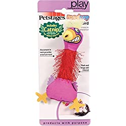 Petstages 744 Madcap Boingy Bird Cat Catnip Toss and Bat Plush Toy