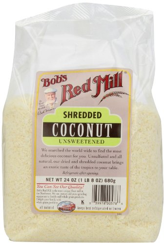 Bob's Red Mill Unsweetened Medium Shredded Coconut, 24 Ounce Packages (Pack of 4)