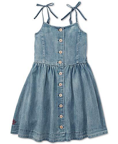 Ralph Lauren Polo Girls Denim Sleeveless Dress (6X)