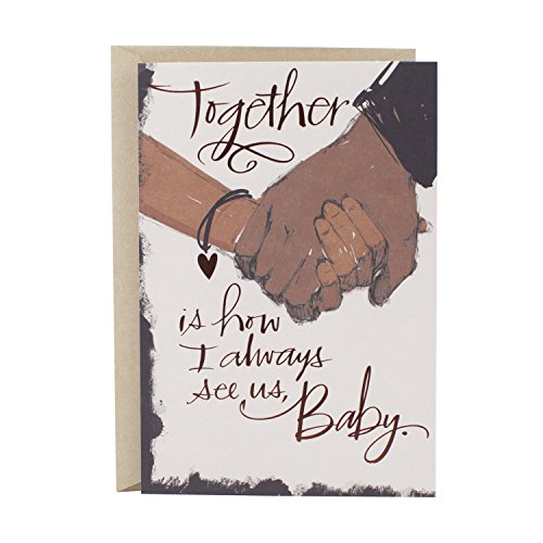Hallmark Mahogany Love Card or Anniversary Card (Never Stop) (Best Gift For My Girlfriend On Christmas)