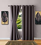 """Warm Home Designs 1 Panel of Charcoal Color Blackout Curtains with Grommets. Long Size Insulated Thermal Window Panel Is 54"""" X 96"""" in Length and Includes Matching Tie-Back. N Charcoal 96"""