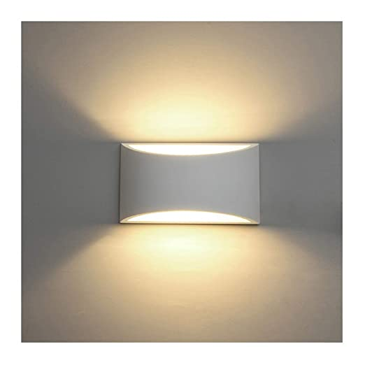 Led wall lights indoor modern white plaster wall wash lights 7w warm led wall lights indoor modern white plaster wall wash lights 7w warm white led sconce up aloadofball Gallery