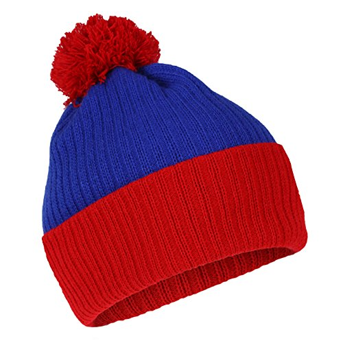 The Cosplay Company Men's South Park Cartman Bobble Winter Snowboarding Hat One Size Blue With Red]()