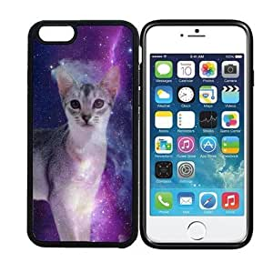 iPhone 6 (4.7 inch display) RCGrafix Galaxy Feline Cat - Designer BLACK Case - Fits Apple iPhone 6- Protected Cell Phone Cover PLUS Bonus Iphone Apps Business Productivity Review Guide