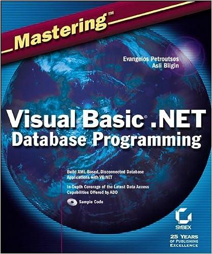 Mastering Visual Basic .NET Database Programming