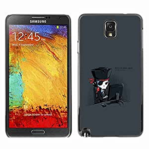 Planetar® ( Hardcore Pirate Geek ) Fundas Cover Cubre Hard Case Cover Samsung Galaxy Note 3 III / N9000 / N9005