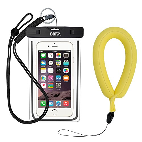 EOTW Waterproof Case Dry Bag with Military Lanyard Waterproof Camera Float Strap Wristband For Kayaking Swimming, Fits iPhone 6 6S Plus 5S SE Samsung Galaxy S8 S7 S6 Note 5 Moto G4 G5 Google Pixel LG