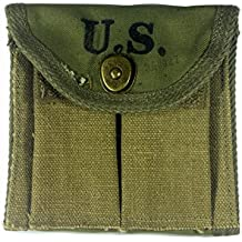 Reproduction WW2 US 1943 Army M1 Carbine Butt Ammo Pouch Magazine Clip Bag WWII