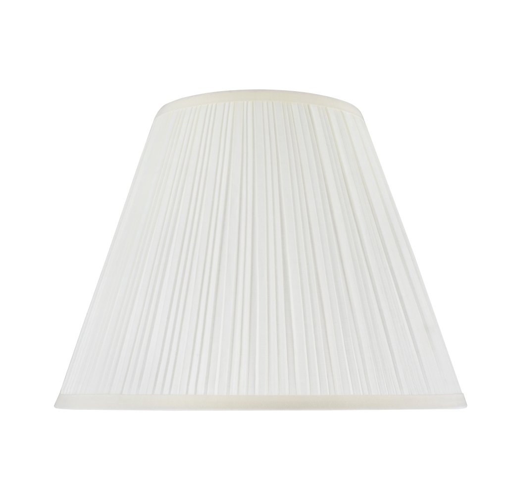 Off-White 7\ Off-White 7\ Aspen Creative 33026 Transitional Pleated Empire Shape Spider Construction Lamp Shade in Off-White, 14  wide (7  x 14  x 11 )