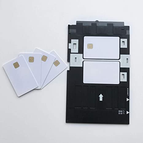 Amazon.com: Contacto SLE4428 chip IC Card + 1 x bandeja para ...