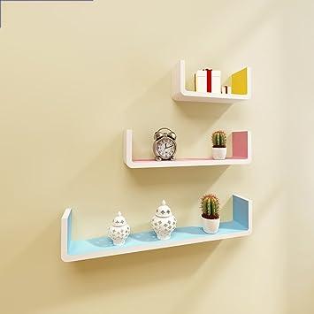 Moderne Minimalist Schlafzimmer Wand Wohnzimmer TV Kulisse Feld Schindel  Wandregale Wandregale ( Farbe : Bunte )