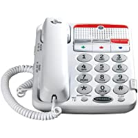 GE 29568GE1 Dect 6.0 Corded Big Button Phone for Mild Hearing Loss (White)