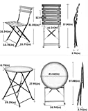 Grand patio Premium Steel Patio Bistro Set, Folding