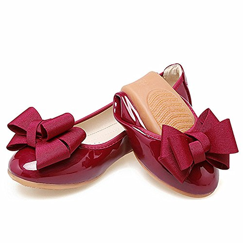 Work Sweet Wine Flats Flat Shoes Bowtie Nutsima Shoes Ladies Autumn Women Office Ballet Women Red Black Shoes Rpq18Cwp