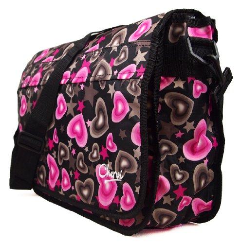 Borsa a cartella nuovissima per donna fantasia amore cuore, borsa a tracolla - multicolorata, non presente