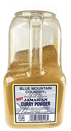 Blue Mountain Country Hot Jamaican Curry Powder 5 Lb (2 Pack) by Blue Mountain Country