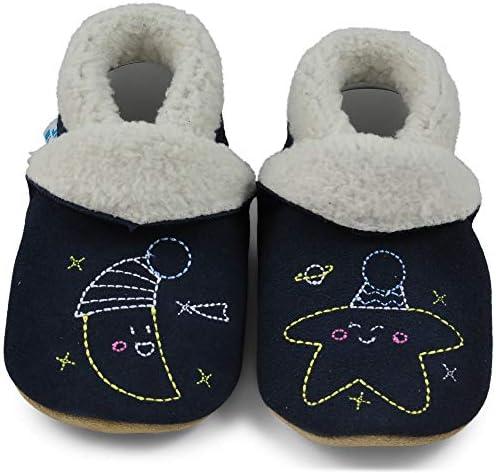 2Ans Chaussons B/éb/é Premiers Pas Chaussures Cuir Souple B/éb/é Fille Gar/çon Mignon Color/ée Animaux Pantoufles 0-6 Mois