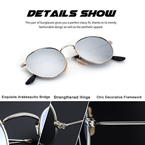 71dc749533 30% de descuento CGID E47 Pequeño Estilo Vintage Retro Lennon inspirado  círculo metálico redondo gafas