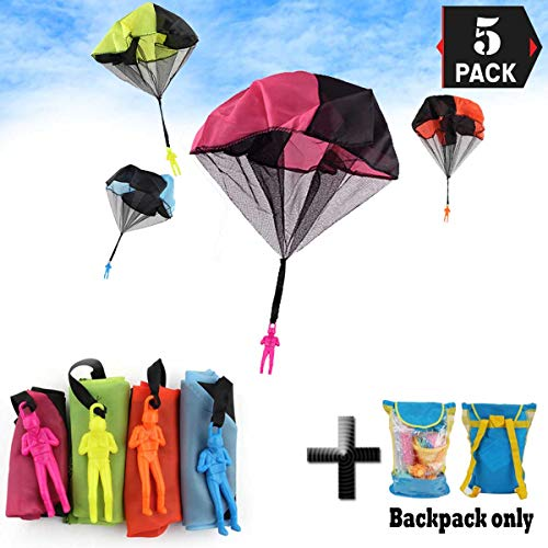 XJunion Parachute Toys Tangle Free Throwing Hand Throw Soldiers Toss It Up and Watching Landing Outdoor Toys (A) ()