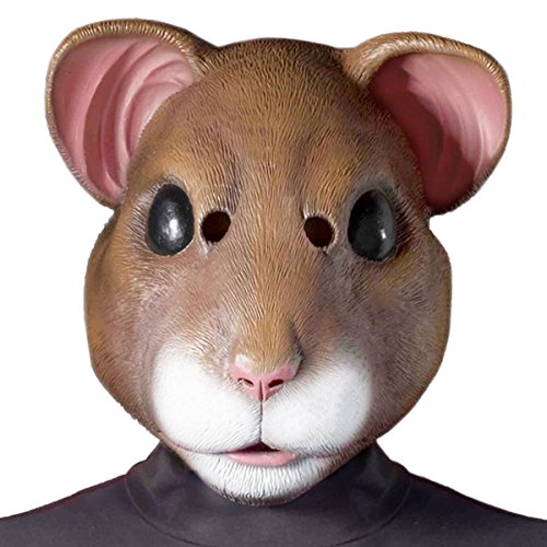 Hamster Masks (Latex Adult Hamster Costume Mask - Off the Wall Toys)