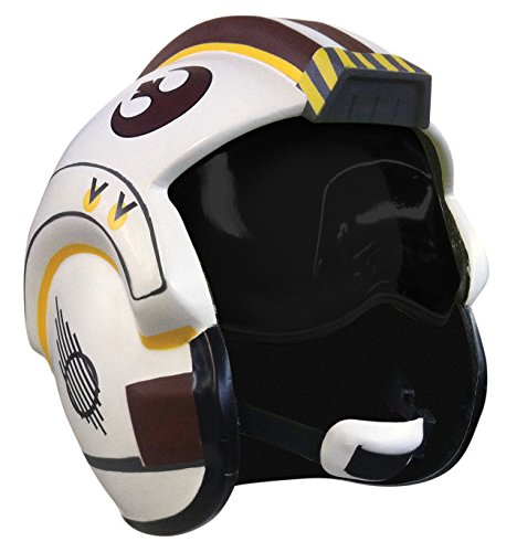 Star Wars Rebel Pilot Costume (Star Wars X-Wing Helmet, Multicolor, One Size)
