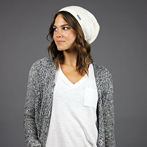 King & Fifth - Womens Slouchy Beanie - The Beeskie - White