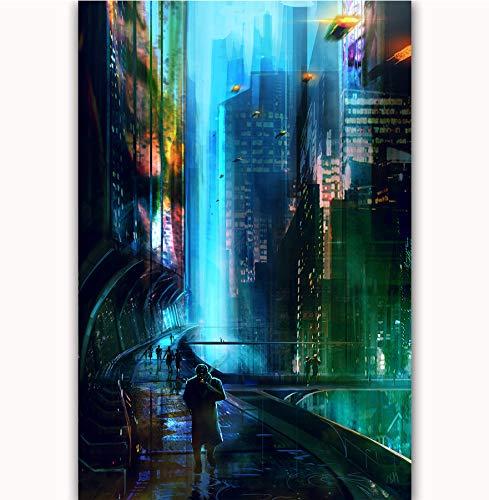 NOVELOVE Cuadro de Arte de Pared Blade Runner 2049 Carteles ...
