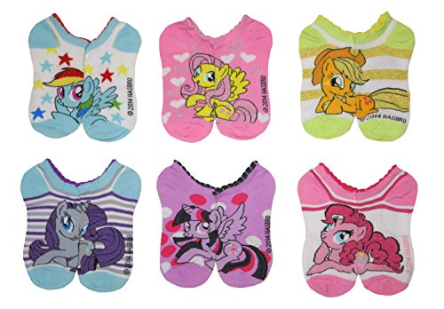 Price comparison product image My Little Pony Big Girls' 6pk No-Show Ankle Socks (6-8)
