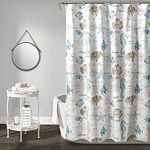 518RpC5qDGL._SS300_ 200+ Beach Shower Curtains and Nautical Shower Curtains