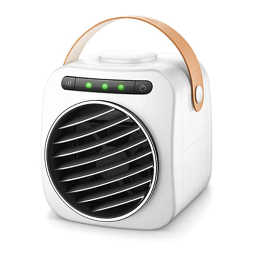 Wqingng Mini Portable USB Air Cooler Digital Display Air Conditioner with Handle Fan Water Cooling Fan Noiseless Evaporative Air Humidifier for Room Desktop by Wqingng