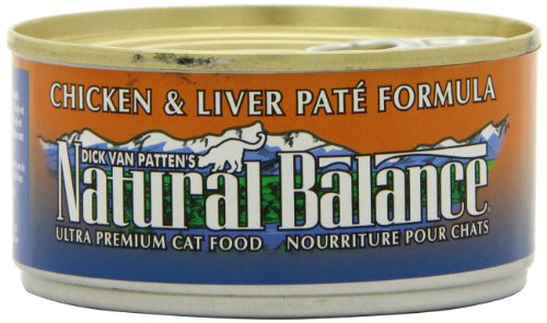 Natural Balance Canned Cat Food, Chicken and Liver Pate Recipe, 24 x 6 Ounce Pack, My Pet Supplies