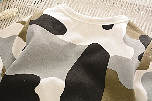 Acmede corta Camiseta de os manga verano corto Camuflaje Set Boy para Ropa Negro Baby ni de Wzcr0pUnSW