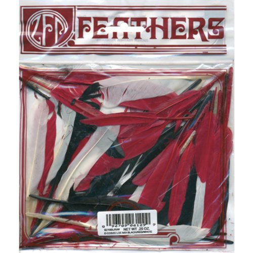 Zucker Feather Duck Cosse Red/Black/White .25 oz (3 (0.25 Ounce Roll)