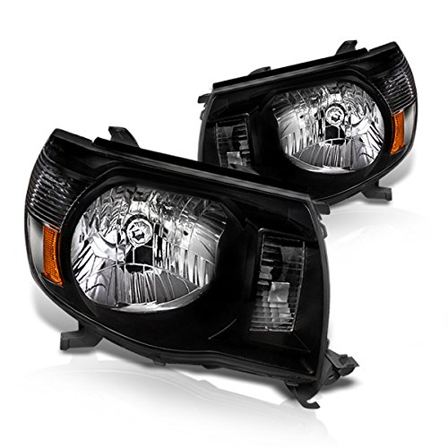Instyleparts Toyota Tacoma Clear Lens Headlights with Black Housing (Tacoma Black Headlights compare prices)