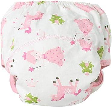 Fdit - Ropa Interior Lavable para bebé, pañales de algodón Macizo ...