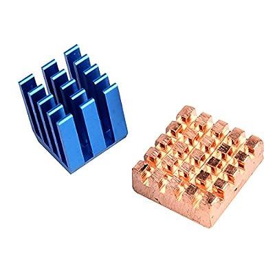 JBtek Copper Aluminium Cooling Heatsink for Raspberry Pi B+ & Raspberry Pi 2 RPi, Set of 2 Heat Sinks