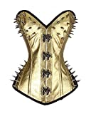 FetiWear Vegan- Faux/Genuine Leather Spikes and Hooks Overbust Corset S-XL